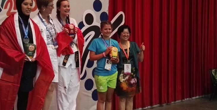Ana Vornšek članica ŠD Slavko Šlander iz Celja  –  3. Mesto borbe do 63 kg WTF Taekwondo