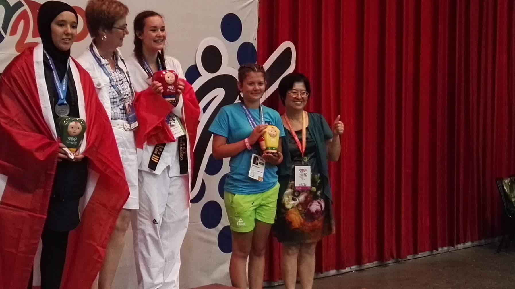 Ana Vornšek članica ŠD Slavko Šlander iz Celja  -  3. Mesto borbe do 63 kg WTF Taekwondo