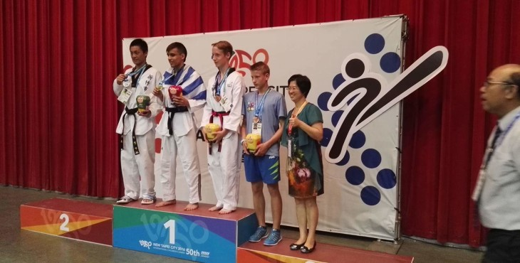 Jure Tozon ŠD Slavko Šlander iz Celja  –  3. Mesto borbe do 63 kg WTF Taekwondo