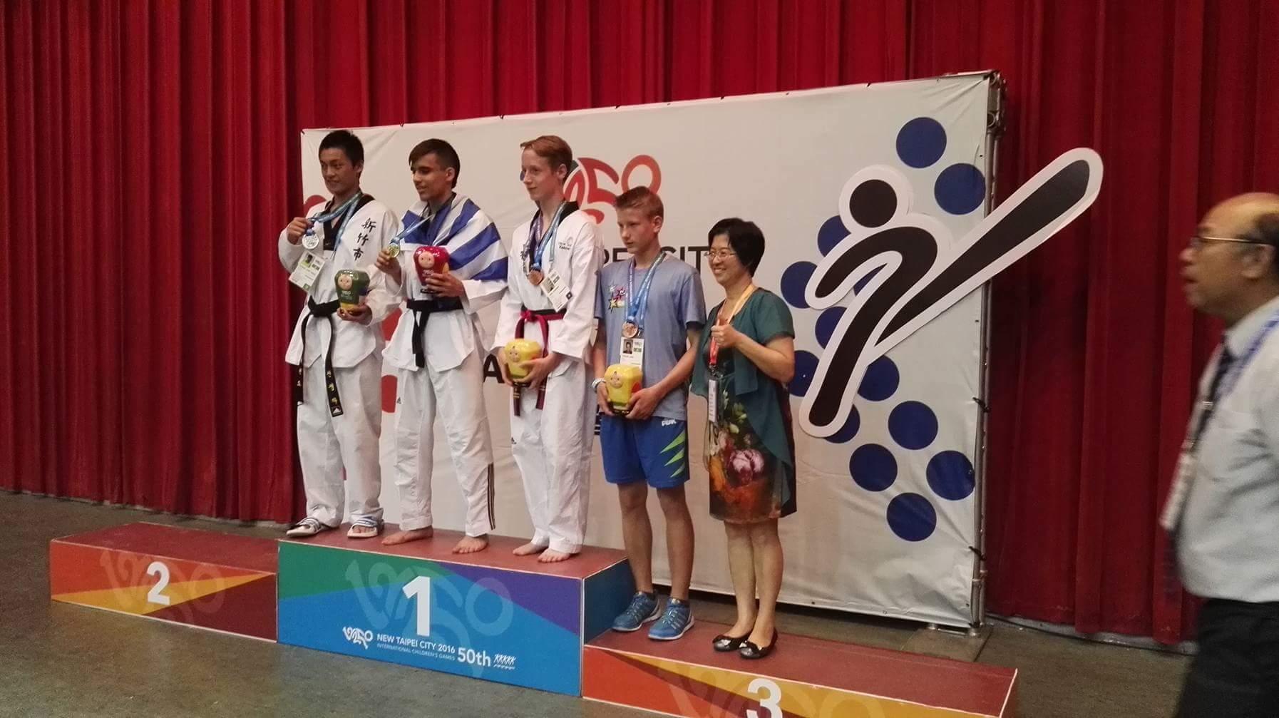 Jure Tozon ŠD Slavko Šlander iz Celja  -  3. Mesto borbe do 63 kg WTF Taekwondo